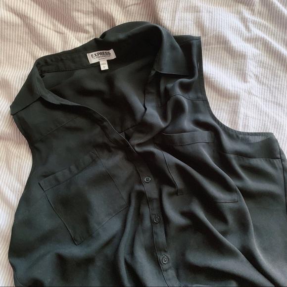 Express Tops - Black Portofino Shirt